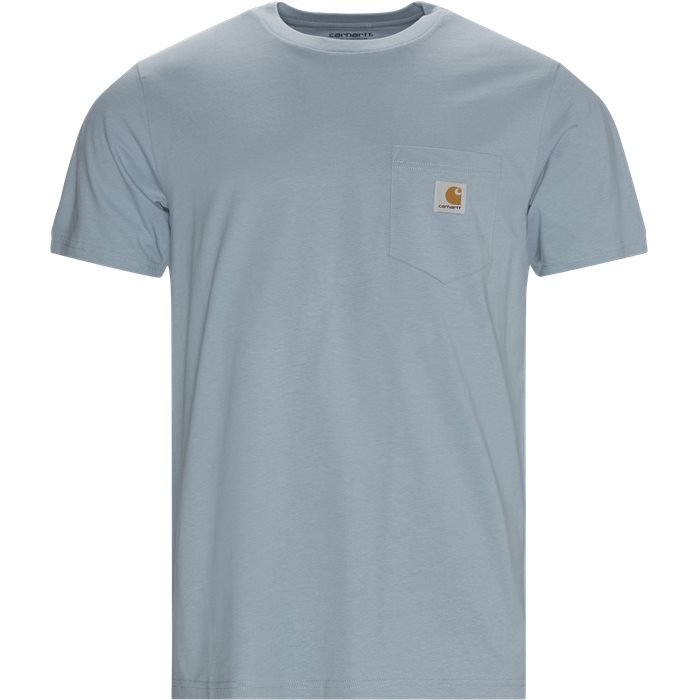 Pocket Tee - T-shirts - Regular - Blå